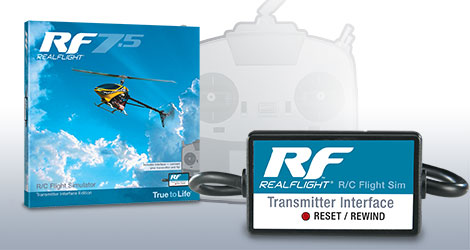 RealFlight 7.5 Transmitter Interface Edition. Photo courtesy of RealFlight