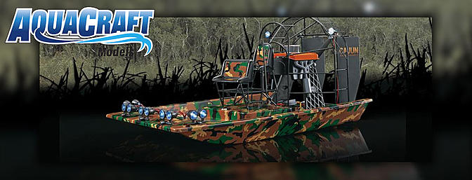Coming Soon! Aquacraft Cajun Commander Brushless Airboat ...