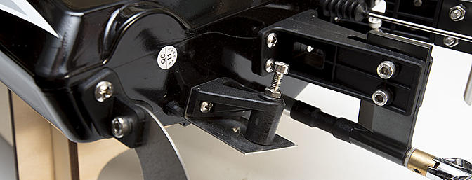 The trim tabs allow for some adjustment to the hull's ride attitude and cornering