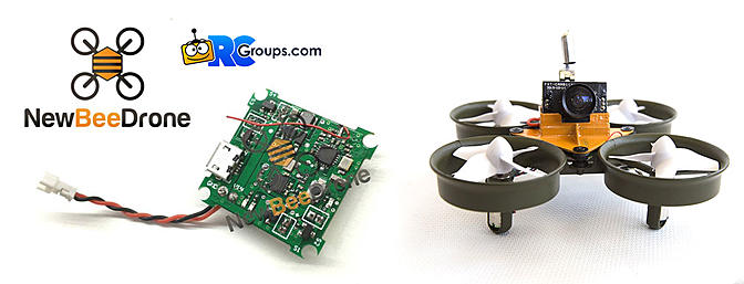 BeeBrain v.1 - Cleanflight/Betaflight Flight Controller for Tiny Whoop