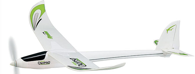 The Flyzone Micro Calypso is a beginner oriented motor glider that handles well and won't break the bank.