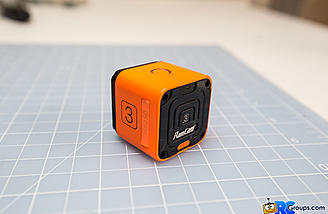 The rear of the RunCam 3 shows the wifi button that allows viewing and adjustment through the app.
