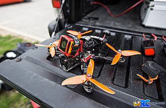 "The RunCam 3 tucked into Matt Nowakowski's Rotor-Riot Edition Alien 5"" quad"