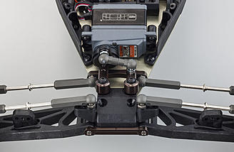 Optional aluminum steering parts are included in the Ultima SC6 kit.