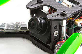 The Theory XL FPV BNF has an adjustable camera angle from 0 to 79 degrees