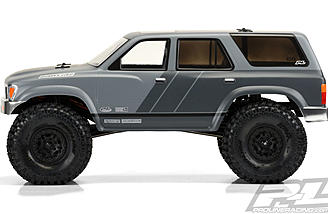 "The Pro-Line 1991 Toyota 4Runner Body is designed for 12.3"" wheelbase crawlers"