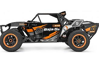 The HPI Baja Kraken TSK-b Class 1 features a Fuelie 26cc engine that can run for over 30 minutes on a tank of fuel.