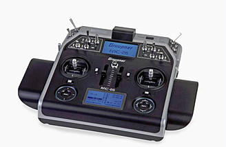The MC-26 is an affordable HoTT transmitter with all the features of the MC-28, but without Bluetooth and Hall Effect gimbals.