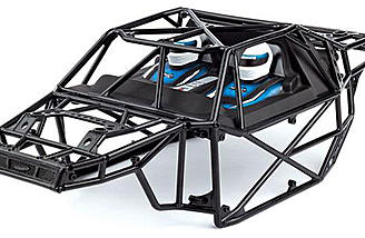 A plastic roll cage adds to the realism of the Team Associated 1/8 Nomad DB8
