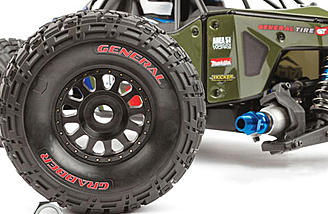 Officially licensed General Tire Grabbers on Method faux beadlock wheels are included.
