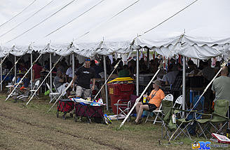 The build tents at Flite Fest