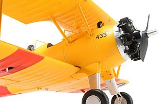 A realistic dummy radial and functional struts add to the realism of the E-flite PT-17 1.1m