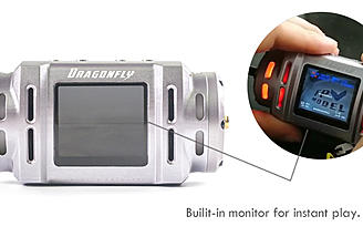 "The Dragonfly Diversity Receiver comes with a 1.5"" monitor."