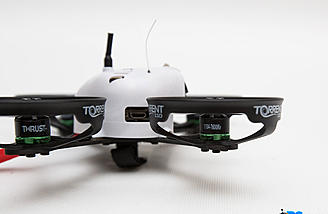 The Torrent 110 comes with Blade 1104 7600Kv brushless outrunner motors that are 2s and 3s compatible.