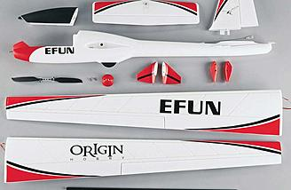 The Origin EFUN 85-Inch Brushless Sailplane is a RTF EPO sailplane with everything except battery, charger, and radio system included.