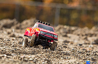 """The locked axles and aggressive tires are what keeps the Hilux moving forward on even the most demanding """"trails""""."""