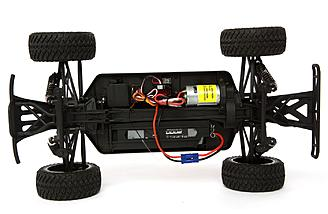 The Force RC Warhawk 4WD SCT comes with a 550-sized brushed motor