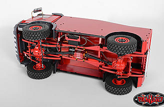 The Dakar Rally truck has realistic leaf sprung suspension.