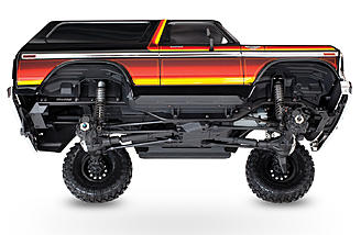 The Traxxas TRX-4 Bronco Ranger XLT has a 4-link adjustable suspension.