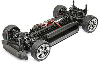 The V-100 S chassis is shaft driven 4wd