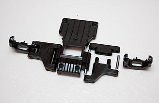 Front lower arms being assembled