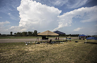 A thunderstorm that missed us in Friday afternoon