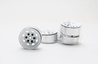 OEM-style white stamped steel 1.55 wheels with internal beadlocks