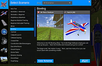 The Scenario window. There are 36 presets and the ability to create your own