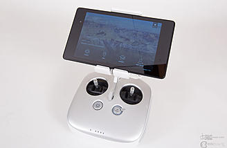 The C1 transmitter and a Nexus 7 tablet