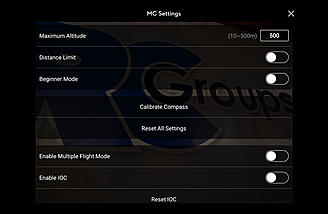 Controller settings page