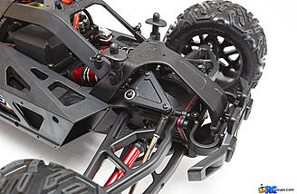 The Nero uses a cantilever suspension setup to fit the massive big-bore shocks under the body