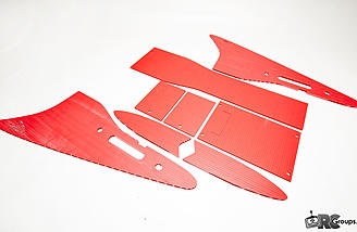 The included corrugated-plastic winglets, verticals, and electronics bay covers