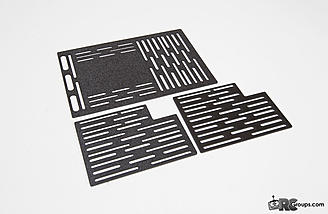 These optional plates can be mounted in the bottom of the electronics bays