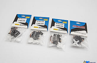 Metal gear micro servos bearing the Skywalker name are included