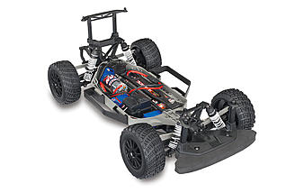 The chassis is a 4wd shaft drive setup with Revo-Spec steel gears.