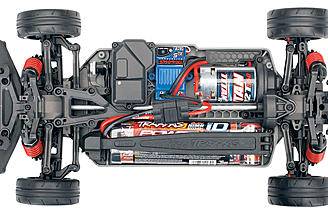 The chassis of the Ford GT is the 4-Tec 2.0, a nylon composite chassis with oil-filled dampers and full ball bearings.