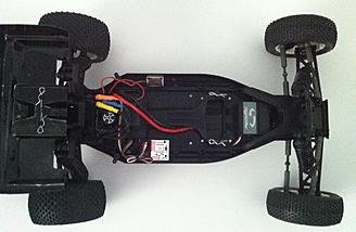 Body off - The Kyosho Ultima RB6 comes with a Team Orion 2700Kv Neon One motor and eam Orion 60 Amp R10 Sport ESC