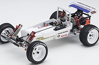 The Kyosho Turbo Scorpion has a T6 aluminum chassis