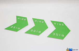 Three foam board arrows are included in the RISE House Racer System.