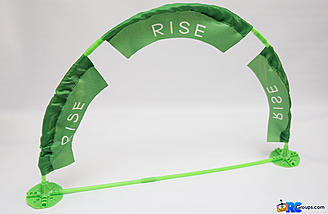 This RISE Arch Race Gate with Flags is an optional item and retails for $14.99.