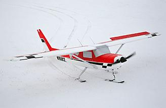 Optional snow skis for the Carbon-Z Cessna 150