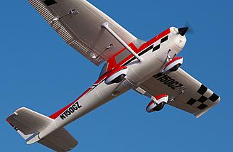 The Cessna 150 from E-flite is a Carbon-Z giant-scale sport aerobatic airframe with a wide flight envelope