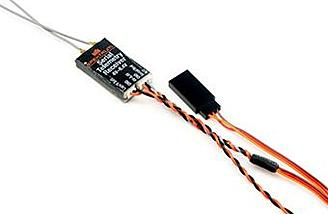A telemetry receiver is included to relay back valuable info such as RF health and battery voltage