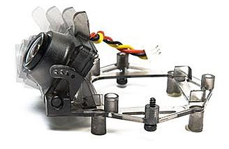 The camera mechanism tilts for optimum viewing while fpv racing or freestyling.