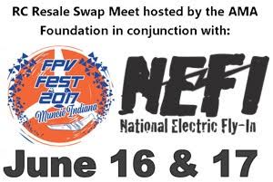NEFI and FPV Fest this year in Muncie will also feature the RC Resale Swap Meet.
