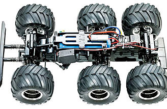 The Tamiya Konghead is built around the G6-01 chassis