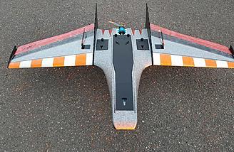 "The Ritewing Mini Drak has a 40"" wingspan"