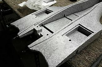 Fiberglass spars are used throughout for additional strength