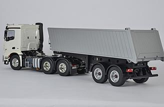 A multitude of different trailers are available for the Tamiya Mercedes-Benz Arocs 3363 6x4