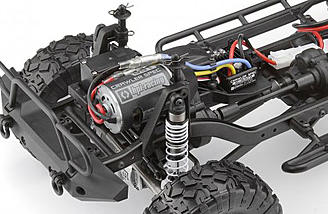 The Venture comes with an esc, 35T crawler spec motor, and a transmitter and NiMH battery.